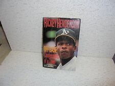 Rickey Henderson : Confessions of a Hot Dog Hardback Book Out of Print