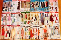 U PICK!  Jr Misses & Womens DRESS Patterns ~ SIMPLICITY Sz 3/4-28W PLUS UC