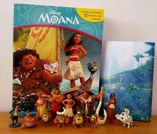 FROM DISNEY MOANA MY BUSY BOOKS WITH 12 DISNEY FIGURINES + PLAYMAT BNIB