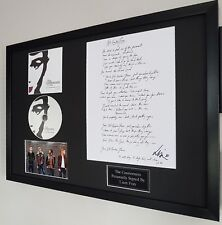 Liam Fray signed The Courteeners Not Nineteen Forever songsheet-CERTIFICATE-RARE