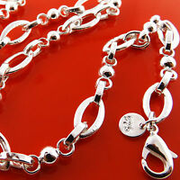 FSA953 GENUINE REAL 925 STERLING SILVER S/F SOLID LADIES CLASSIC NECKLACE CHAIN