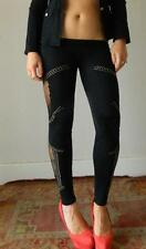 VINTAGE Rock Chic Sexy Sheer Fish Net Stud Beads Eye Catching Tights