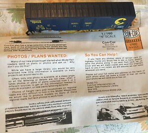 CON-COR N 1/160 Scale 60 Ft  boxcar Chess is System 0001-5562-3 Scheme 1 Used