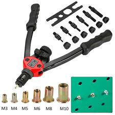 Manual Threaded Rivet Nut Setting Tool Riveter Gun Nutsert Riveting M3-M10 Set