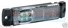 12v/24v Slim-Line Bianco LED Di Posizione Anteriori marcatore/Lampada/Luce CAMION AUTOCARRO RIMORCHIO