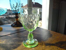 VERRE ANCIEN EN OURALINE / 19 ème / URANIUM GLASS