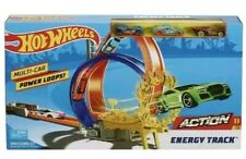 Hot Wheels ACTION Energy Track Multi-Car Power Loops! Car Track Set. New