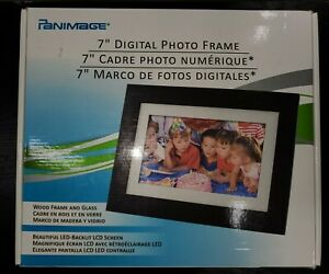 Pandigital 7 Digital Picture Frame DPF72 - Wood Frame And Glass LED LCD Screen