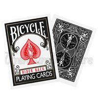 2 Decks Bicycle Rider back Black playing cards Standard index Poker Magic tricks