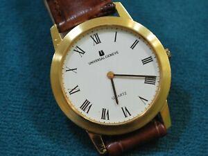 Nice Vintage Universal Geneve 18KGP Men's Slim Dress Watch