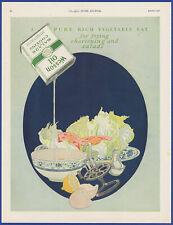 Vintage 1921 WESSON OIL Kitchen Art Decor Salad Ephemera 20's Print Ad