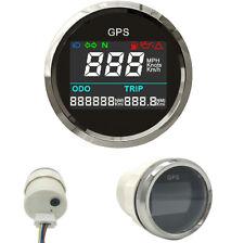 Neu 52mm wasserdichte Motorrad Marine Digital LCD GPS Tacho Digitalanzeigen
