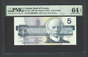 Canada 5 Dollars 1986 BC-56a Uncirculated Graded 64