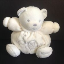 Kaloo Perle Cream Chubby Small Bear Baby Toy Plush Silver Embroidery 2013