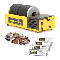 Tumble-Bee Rotary Rock Tumbler | Includes Rock & Polish Kit | Model TB-22, 2X2LB