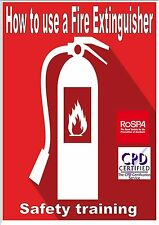 Fire Extinguisher Health & Safety online computer based E-learning