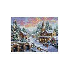 """Dimensions Gold Collection Counted Cross Stitch Kit Holiday Village 12"""" X 16"""""""