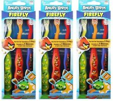 9 x Angry Birds Suction Cup Kids SOFT Toothbrush 100% Brand New (3 x 3pk)