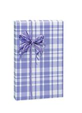 "85 Ft Pretty Lavender Plaid Gift Wrap - 24"" wide - BULK Size - 170 Sq Ft"
