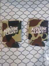 Keystone Light Real Tree Camo Beer Koozie Can Cooler - Set of Two (2) - New F/S