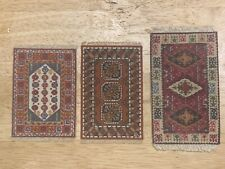 LOT OF 3 VINTAGE DOLLHOUSE MINATURES RUGS CARPETS