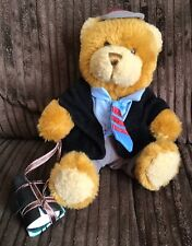 The Teddy Bear Collection Sam The Schoolboy Soft Plush Toy With Books 7""