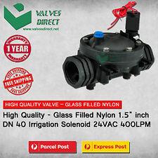"HighQuality Nylon 40mm 1.5 inch 1.5"" DN40 Irrigation Solenoid Valve 24VAC 400LPM"