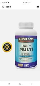 Kirkland Signature Daily Multi Vitamins & Minerals - 500 Tablets