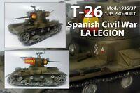 T-26 Tank Spanish Civil War LA LEGIÓN Guerra Civil Española 1/35 Pro-built