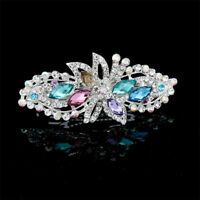 Women's Flower Hair Clips Crystal Barrettes Hair Pins Wedding Accessories Party