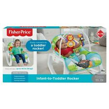 Fisher-Price Infant toToddler Rocker - Green Jungle with Removable Bar