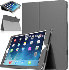"For Apple iPad 9.7"" 6th Generation 2018 Magnetic Leather Stand Case Skin Grey"