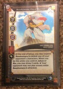 Inuyasha TCG Sesshomaru Great Warrior Promo Keshin IYP8 FOIL Trading Card Game