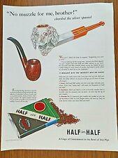 1941 Half & Half Pipe Tobacco Ad Chortled the Silver Spaniel Pipe