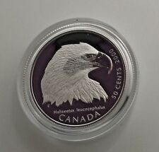 Canada 2000 Bald Eagle 50 Cents Birds Of Prey Sterling Silver Capsule