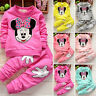 Girls Minnie Mouse Tracksuit Long Sleeve Crew Neck Top Palms Pants Outfits Set