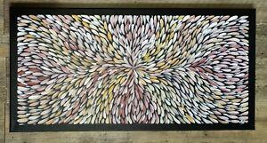 Aboriginal art paintings original 80 x40cm approx bush medicine leaves