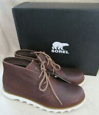 SOREL Kezar Chukka Dark Elk Brown Waterproof Shoes Boots US 10.5 EUR 43.5 NWB