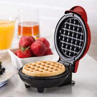Tragbar Mini Antihaft Waffeleisen Maschine Energiesparen Küche Pfannkuchen DE