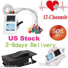 Portable Dynamic Holter 12 Channel Ecg Ekg Machine 24hr Monitorsync Pc Software