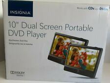 "Open Box -Insignia Ns-Dd10Pdvd19 10"" Dual Screen Portable Vehicle Dvd Player"