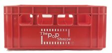 Vintage Pop Shoppe Red Plastic 24 Bottle Soda Crate 1960s 1970s
