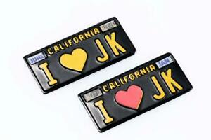 RC Scale LICENSE PLATE Jeep Vintage California METAL Tags  (2)