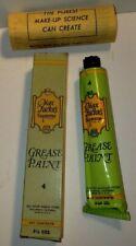 Max Factor's Supreme Grease Paint Lt Cream #4 Full Unused Tube+Box 1950 Rare!Nos