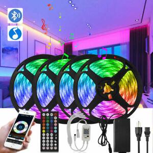 12V Music Sync Bluetooth App Remote 5-20m Full Kit LED Strip Light For Rooms Bar