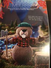 Alan Dart Lumberjack Beaver Knitting Pattern Simply Knitting
