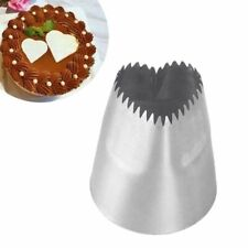 Stainless Steel Heart-shaped Cake Icing Piping Dessert Mould Baking Pastry Tool