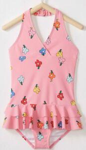 NWT HANNA ANDERSSON Girls Sunblock Blossom PINK Swim Suit 6-7 /120cm