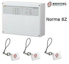 ALLARME ANTIFURTO CENTRALE BENTEL NORMA 8 Z 8 ZONE CON CHIAVE ELETTRONI NORMA 8Z