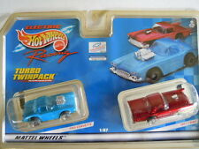 Mattel ~ Tyco 440-X2  Slot Car 1960 Corvettte and 1957 T-Bird Twin Pack ~ 1999